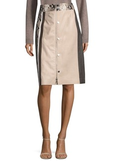 Lafayette 148 New York Rumi Leather Skirt