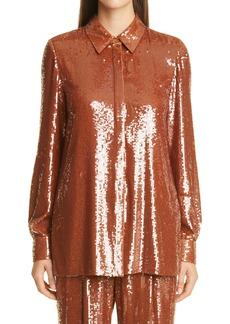 Lafayette 148 New York Ruxton Sequin Shirt