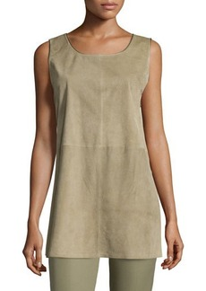 Lafayette 148 New York Ryder Sleeveless Suede Blouse