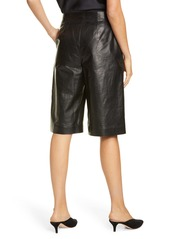 Lafayette 148 New York Ryerson Leather Bermuda Shorts