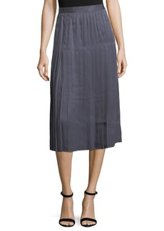 Lafayette 148 Sabilla Posh Twill Pleated Skirt