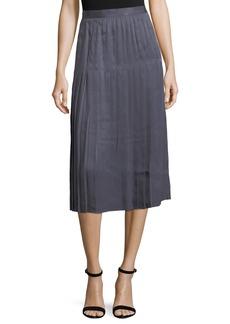 Lafayette 148 Sabilla Posh Twill Pleated Skirt