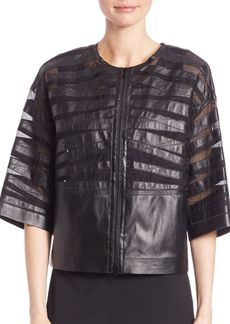 Lafayette 148 New York Sabina Leather Jacket
