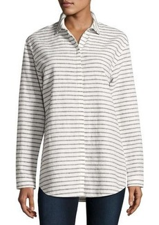 Lafayette 148 New York Sabira Long-Sleeve Striped Blouse