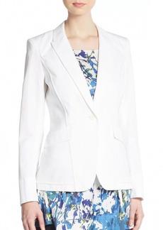 Lafayette 148 New York Sadie Cotton & Linen Blazer