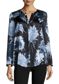 Lafayette 148 New York Samantha Floral-Print Silk Top