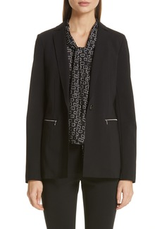 Lafayette 148 New York Samson Zip Pocket Blazer
