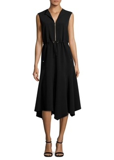Lafayette 148 Santana Drawcord Waist Dress