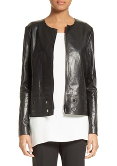Lafayette 148 New York Santino Cutout Leather Jacket
