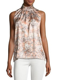 Lafayette 148 New York Sanura Stretch-Silk Top