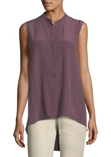 Lafayette 148 New York Sari Sleeveless High-Low SilkBlouse