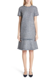 Lafayette 148 New York Saria Tweed Drop Waist Dress