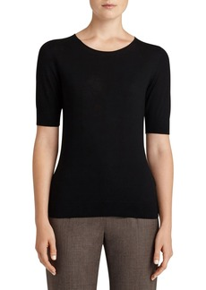 Lafayette 148 New York Scoop Neck Merino Wool Top