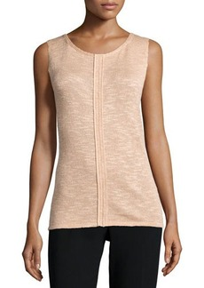 Lafayette 148 New York Scoop-Neck Shell W/Seaming Detail