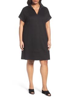 Lafayette 148 New York Seam Detail Shift Dress (Plus Size)