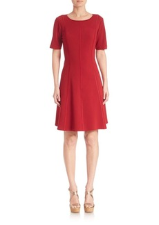 Lafayette 148 New York Seamed Fit-&-Flare Dress