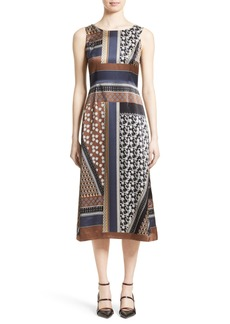 Lafayette 148 New York Sebella Silk Midi Dress