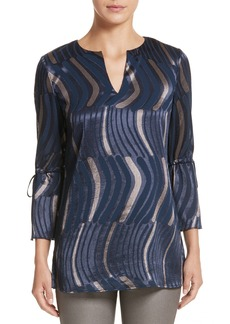 Lafayette 148 New York Sela Ingenue Devoré Blouse