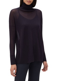 Lafayette 148 New York Semisheer Turtleneck Sweater