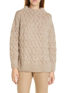 Lafayette 148 New York Sequin Cable Cashmere Blend Sweater