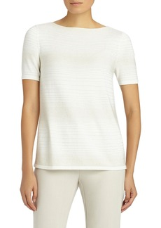 Lafayette 148 New York Sequin Dégradé Silk Blend Top