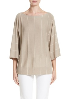 Lafayette 148 New York Sequin Knit Cashmere & Silk Pullover