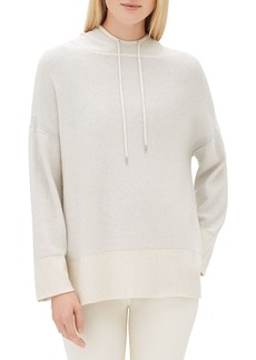 Lafayette 148 New York Sequin Long-Sleeve Luxe Silk Pullover Hoodie