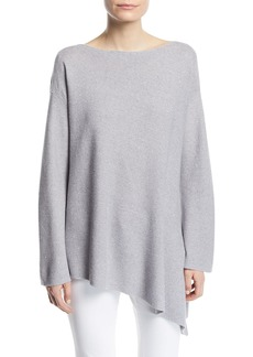 Lafayette 148 Sequin Mouline Asymmetric Sweater