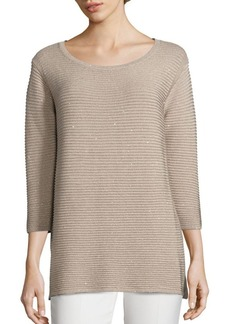 Lafayette 148 New York Sequin Silk-Blend Sweater