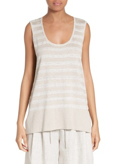 Lafayette 148 New York Sequin Stripe Knit Tank
