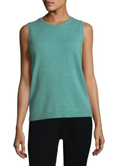 Lafayette 148 New York Sequin Trim Cashmere Tank Top