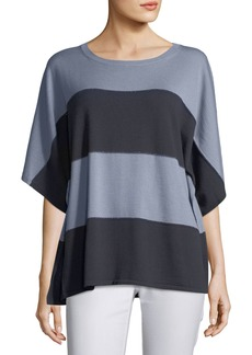 Lafayette 148 New York Sequin-Trim Dolman-Sleeve Sweater