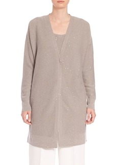 Lafayette 148 New York Sequined Cashmere Cardigan