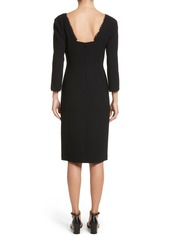 Lafayette 148 New York Shandy Lace Trim Wool Dress