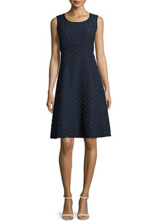 Lafayette 148 New York Shawn Sleeveless Jacquard Fit & Flare Dress