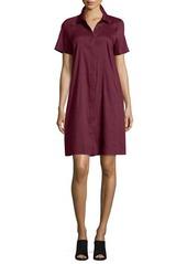 Lafayette 148 New York Shaylin Linen-Bend A-line Shirtdress