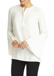 Lafayette 148 New York Shellie Pleated Sleeve Blouse