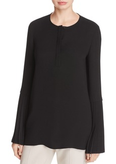 Lafayette 148 New York Shellie Silk Bell-Sleeve Blouse