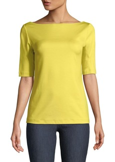 Lafayette 148 Sheryl Cotton-Blend Top