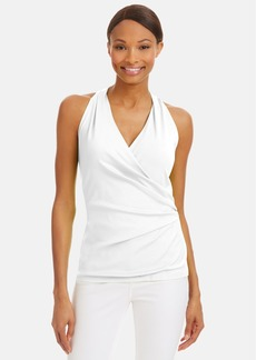 Lafayette 148 New York Shirred Faux Wrap Top (Regular & Petite)