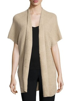 Lafayette 148 New York Short-Sleeve Open-Front Vest