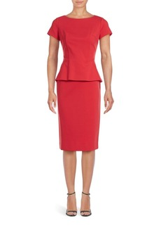 Lafayette 148 New York Short Sleeve Peplum Dress