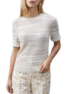 Lafayette 148 New York Short-Sleeve Sweater