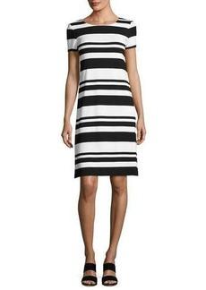 Lafayette 148 New York Short-Sleeve T-Shirt Striped Dress