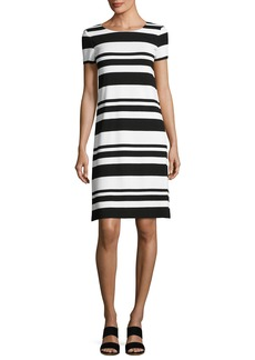 Lafayette 148 New York Short-Sleeve T-Shirt Striped Dress
