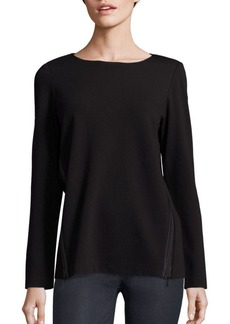 Lafayette 148 New York Side Zip Top