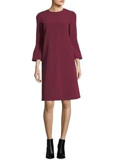 Lafayette 148 Sidra 3/4-Bell-Sleeve Emory Cloth Dress