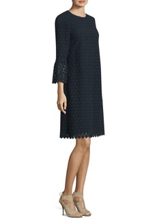 Lafayette 148 New York Sidra Botanical Cotton Bell Sleeve Dress
