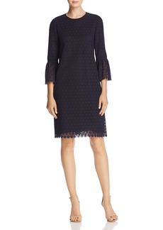 Lafayette 148 New York Sidra Embroidered Bell Sleeve Dress