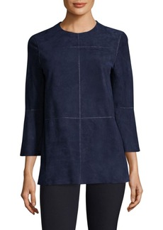 Lafayette 148 New York Sidra Suede Blouse